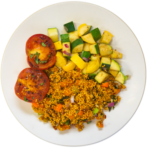 Medium vegan millet dish
